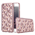 For iPhone 6/Plus 3D Cute Love Cover Soft TPU Gel Chromed Plating Clear Back Case For iPhone 6 6S Plus Glitter Heart Skins Coque
