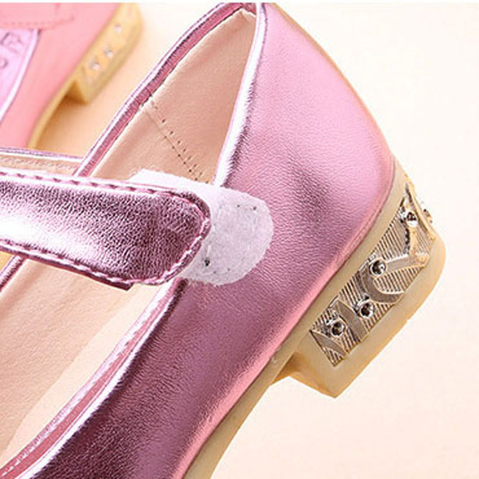 Crystal Bow Kids Girls Ballet Shoes 2017 Autumn Rhinestone Girl s Flats  Ankle Strap Children Ballerinas Zapatos Ninas-in Leather Shoes from Mother    Kids on ... 6f98f3274acf