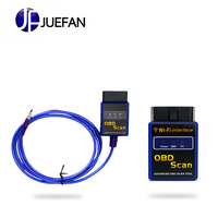 JUEFAN WIFI V2.1 OBD2 WIFI Auto Scanner Wireless OBDII Adapter ELM327 usb v1.5 Car Diagnostic Scanner for pc iphone ios andriod