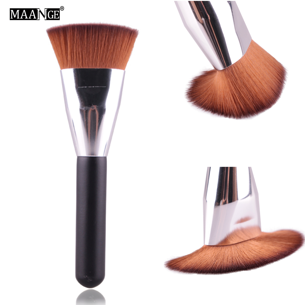 MAANGE 1PCS Professional Flat Contour Blending Foundation Makeup Brushes Blush Make Up Cosmestic Powder Face Beauty Brush Tool