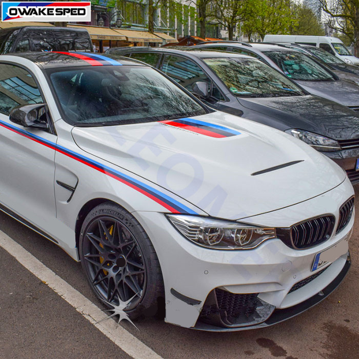 Graphics/desempenho gráficos linhas da cintura porta listras capô do carro cauda telhado adesivo decalque para bmw m sport 1/3/4/2/6/5/7 series m3m4m5