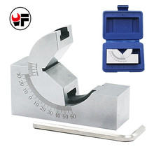 High Precision Angle V Block 0 to 60 Degree Pad Adjustable Micro Angle Sine Gauge With Wrench For Power Tools Measurement D1029