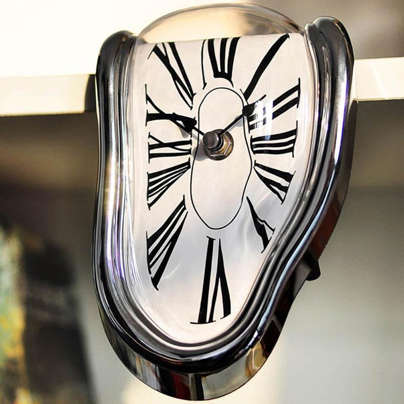 Modern Design Surrealist Salvador Dali Style Wall Clock  Novel Surreal Melting Distorted Wall Clock Amazing Home Decoration 3