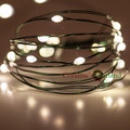 2.3M 20LED Green copper wire string battery operated fairy lights string for holiday party wedding decoration garlands