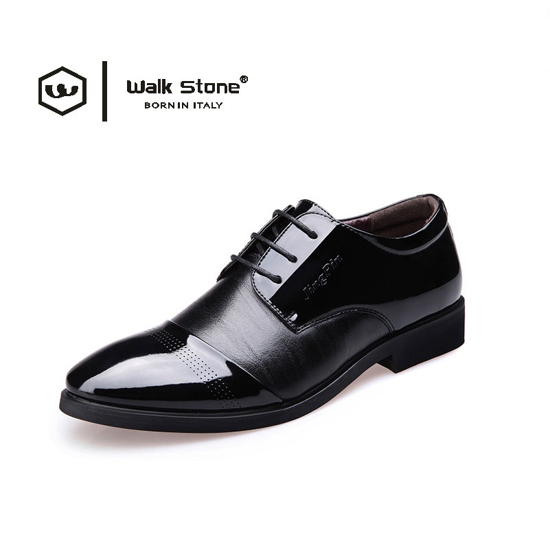 New Genuine Leather Men's Dress Party and Wedding Shoes Lace-Up Casual Male Flats High Quality Patent Leather Rubber Men Oxfords relikey brand men casual handmade shoes cow suede male oxfords spring high quality genuine leather flats classics dress shoes