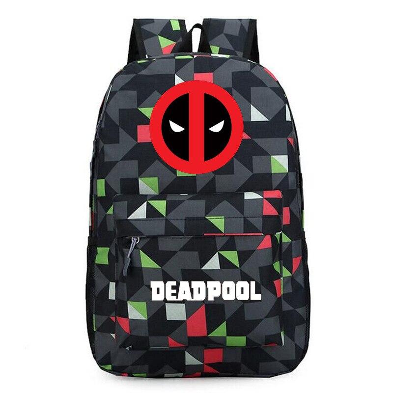 Deadpool 2 Backpack Boys Girls Student School Bags Bookbag Unisex Superhero Fans Shoulder Travel Bags Gift anime game zelda link school backpack for boy girls bags cartoon student bookbag unisex color shoulder laptop travel bags