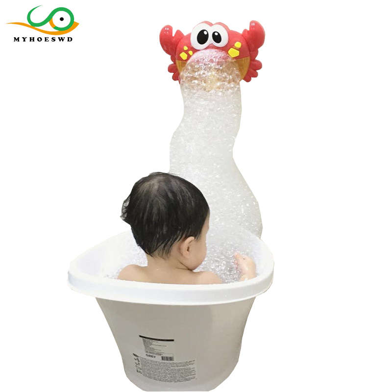 MYHOESWD Music Spit Foam Crab Toy Baby Bath Toys Bathtub Accessories Play Game for Bath Bathroom Toy Kids Bubble Maker Pool Soap