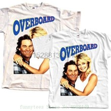 Overboard Poster 1987 T Shirt Natural White All Sizes S To 5xl 100 % Cotton Tee Shirt For Men(China)