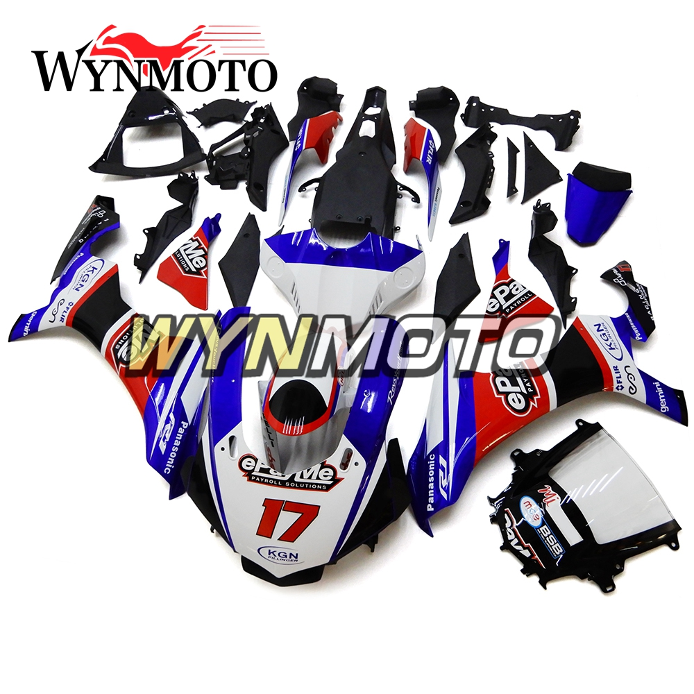 Complete ABS Injection Plastics Fairings For Yamaha YZF1000 R1 Year 2015 - 2016 15 16 Motorcycle Fairing Kit Red Blue Cowlings 2014 2015 2016 yzf r3 r25 abs injection fairing kit for yamaha yzfr3 yzfr25 pearl white complete fairings body kit cowling