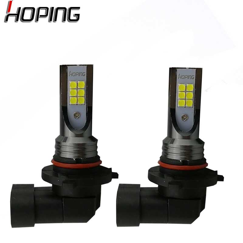Hoping 2X HB4 9006 HB3 9005 H10 Fog Lights Bulb Car Driving Daytime Running Lamp Auto Led Light ice blue gold yellow white 2x h8 h11 9005 9006 h16 cree chip led white red yellow car fog headlight replacement bulb drl auto driving daytime running light