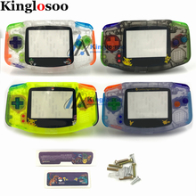 Dreamy Full Set Housing Shell W/ Color Rubber Pads Button Screen Lens Stick Label Screws for Game Boy Advance GBA Console