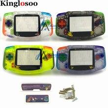 꿈꾸는 풀 세트 하우징 셸/컬러 고무 패드 버튼 스크린 렌즈 스틱 라벨 나사 게임 보이 어드밴스 GBA 콘솔