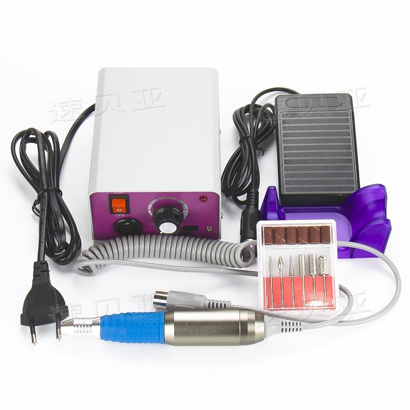 ̀ •́ 25000RPM Electric Nail Drill Manicure Machine with pedal ...