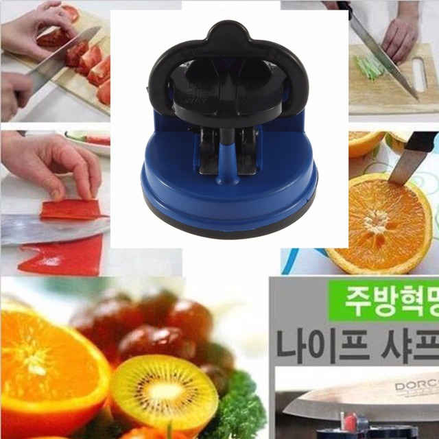 2 Colors Scissors Grinder Secure Knife Sharpener Suction Chef Pad Kitchen Sharpening Tool Free Drop Shipping