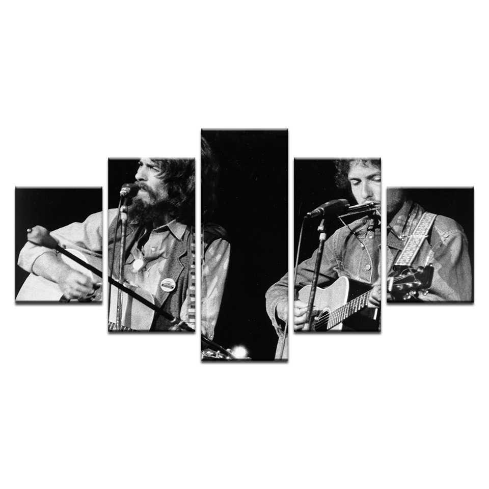 Bob Dylan Âm Nhạc Hiển Thị In Áp Phích Canvas Vẽ Tranh Phòng Trang Trí Nội Thất 5 cái Hình Ảnh Cổ Điển Tường Tác Phẩm Nghệ Thuật Cổ Điển Ca Sĩ Áp Phích