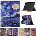 Мода Звездное Небо Картина Маслом Для Samsung Galaxy Tab A A6 10.1 2016 T585 T580 T580N Винтаж Искусство Окрашенные Pattern Случай Таблетки