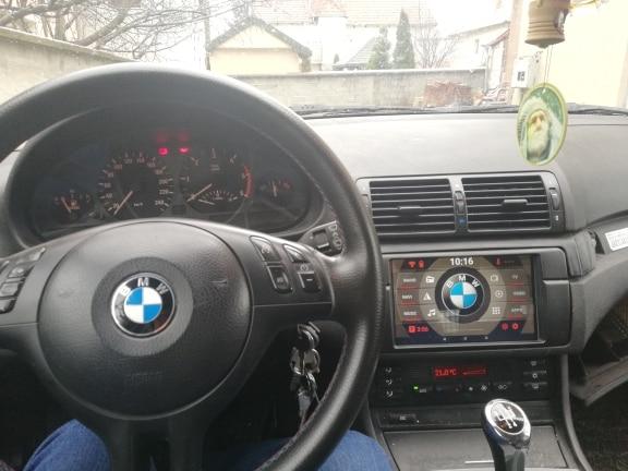 sans navi BMW 3er e92 09.2006-07.2013 Coupe Autoradio Double DIN Ouverture