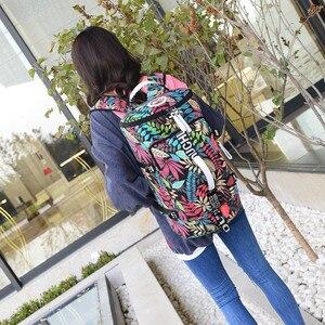 Image 2 - 유명 브랜드 캔버스 여성 여행 가방 여성 대용량 여행 배낭 숙녀 다기능 크로스 바디 가방