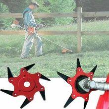 6 Steel Blades Razors 65Mn Lawn Mower Grass Eater Trimmer Head Brush Cutter Tool Trimmer Head стоимость