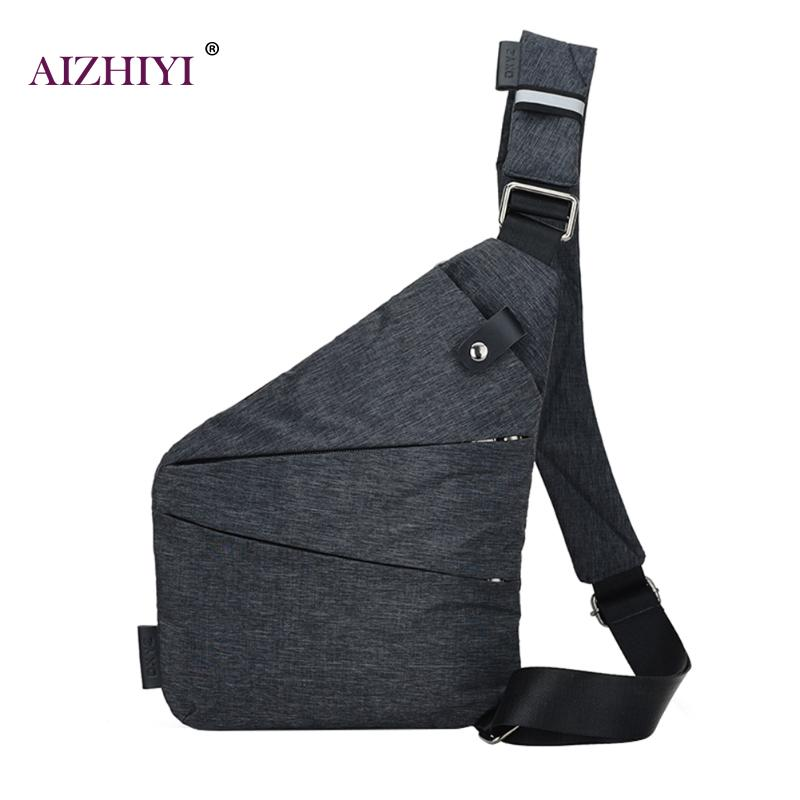 Unisex Anti Theft Men S Messenger Bag Shoulder Bags Men Hidden Chest Pack Mens Retro Crossbody