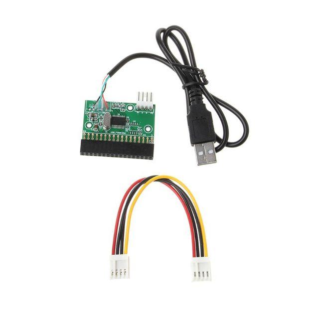 """1.44MB 3.5 """"USB kablosu adaptörü 34Pin disket sürücü konektörü U Disk disket PCB kartı"""