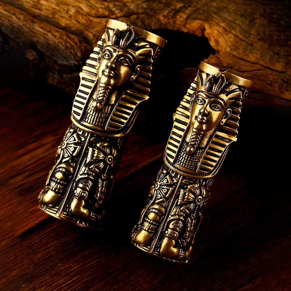 Onetop Vape Pharaoh 21700 Mech MOD Brass Material Fit Single 21700 18650 Cell Direct Output Vape