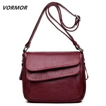 c0c5f81f7f2e 6 цветов Роскошные кожаные сумки женские сумки дизайнерские женские сумки- мессенджеры летняя сумка женские сумки