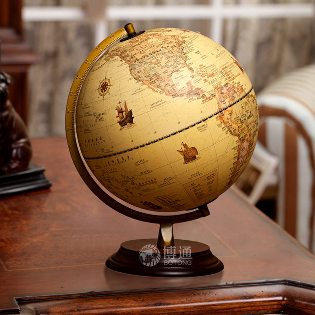 Online Shop Home Decor Antique English Globo Terrestre Teaching ...