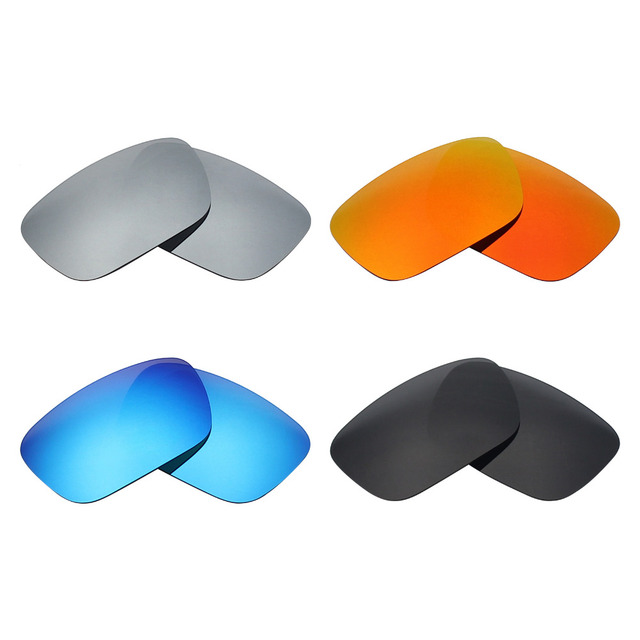 da0519b35c 4 Pairs Mryok POLARIZED Replacement Lenses for Oakley Jury Sunglasses  Stealth Black   Ice Blue   Fire Red   Silver Titanium