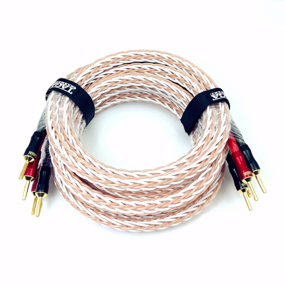 TAGA Harmony Platinum-18 Hi-end 18 AWG OFC Speaker Cable with Banana Plugs 2.5m x 2