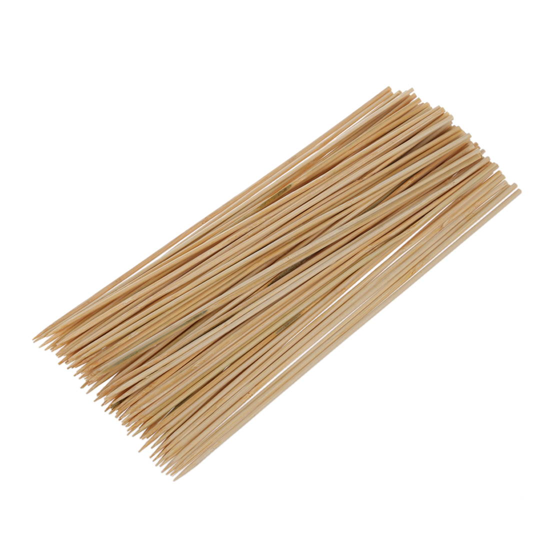 Practical Camping Wooden Color Bamboo BBQ Skewers Barbecue Shish Kabob Sticks 95 Pcs