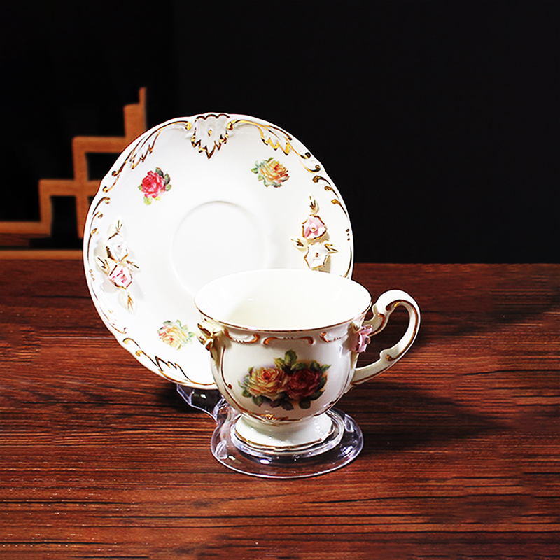 Clear Teacups and Saucer Display Easel Stand Holder,