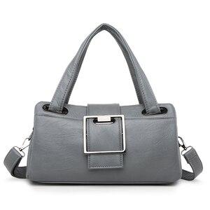 Image 3 - 패션 베개 여성 핸드백 미국의 인기있는 보라색 가방 새로운 간단한 레저 레이디 숄더 가방 캐주얼 성격 메신저 가방