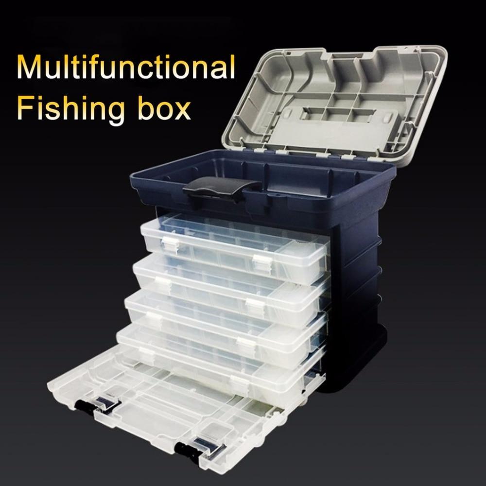 Big Multifunctional Fishing Box Four Layers Fishing Box Lure Bait Storage Box Hand-held Portable Case Container Fishing Supply цена
