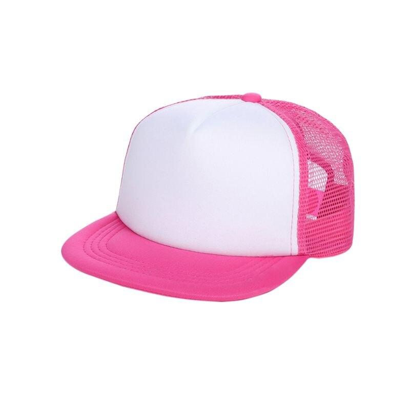 Baseball Hat Mesh Summer Cap Trucker Snapback Adjustable Snap Back Plain Hip Hop