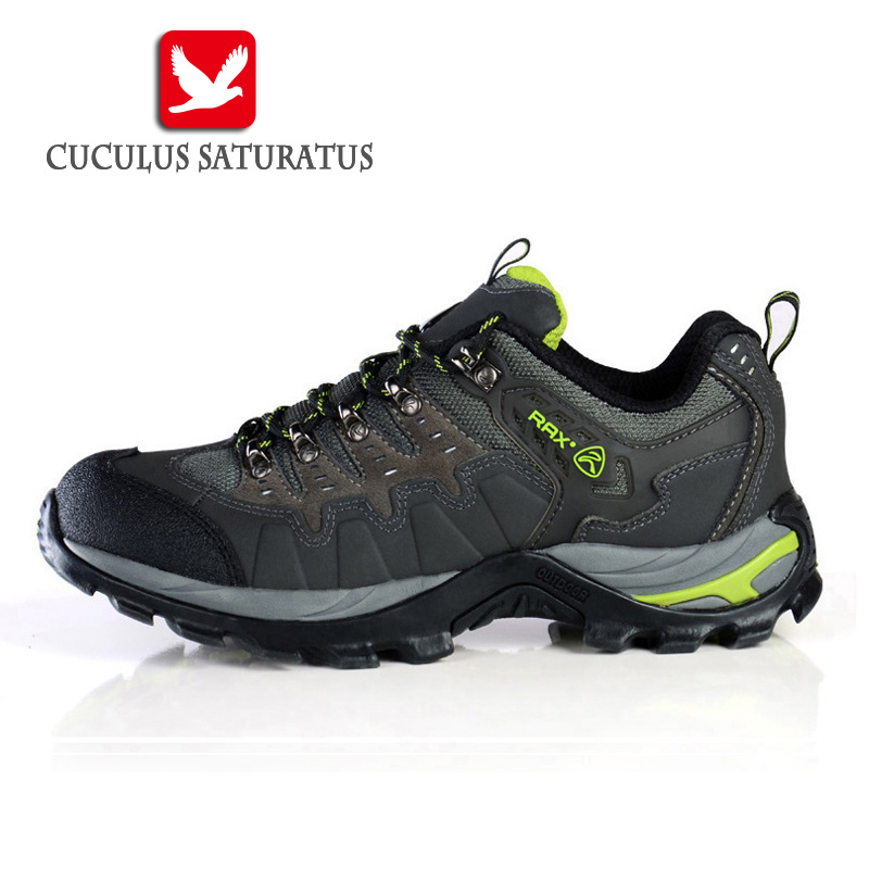 цена на RAX Suede Leather Shoes Men Surface Waterproof Breathable Outdoor Hiking Shoes Men Women Climbing Trekking Shoes 15-5C007