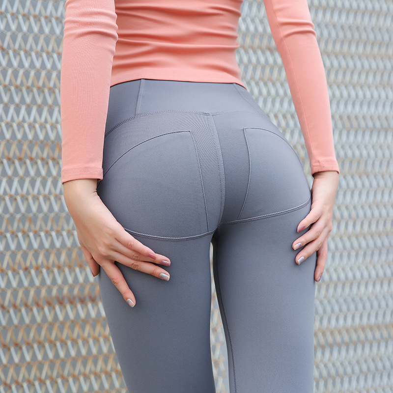 <font><b>Yoga</b></font> <font><b>Pant</b></font> <font><b>Women</b></font> <font><b>High</b></font> <font><b>Waist</b></font> Elastic Tight Sport <font><b>Leggings</b></font> <font><b>Sexy</b></font> Slim Push Up Hip Shaper Training Gym <font><b>Fitness</b></font> Activewear Solid Color image