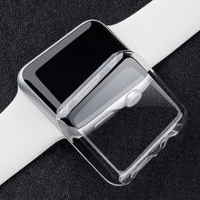 Besegad Transparan Pelindung Guard Film Case Cover Shell Bumper untuk Apple Watch Saya Jam Tangan Seri 2 3 38 Mm 42 Mm aksesoris(China)