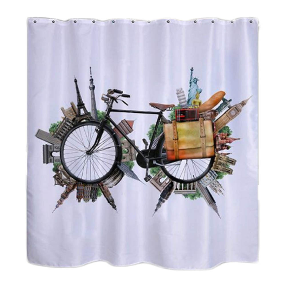 Funky shower curtains - Fashion 3d Printing Creative Bike Shower Curtains Unique Shower Curtains 180 180cm Funky Shower Curtains