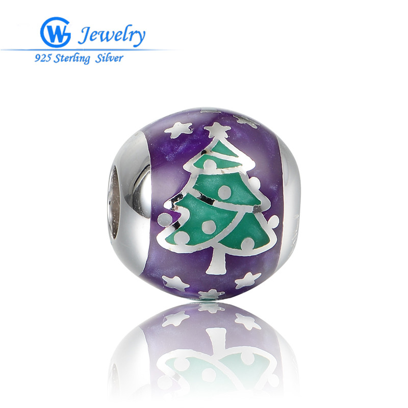 New European Beads Sterling Silver Charm For Bracelet Super Deals Of The Day Jewelry Aimili Jewelry Purple AMLD037H20 image