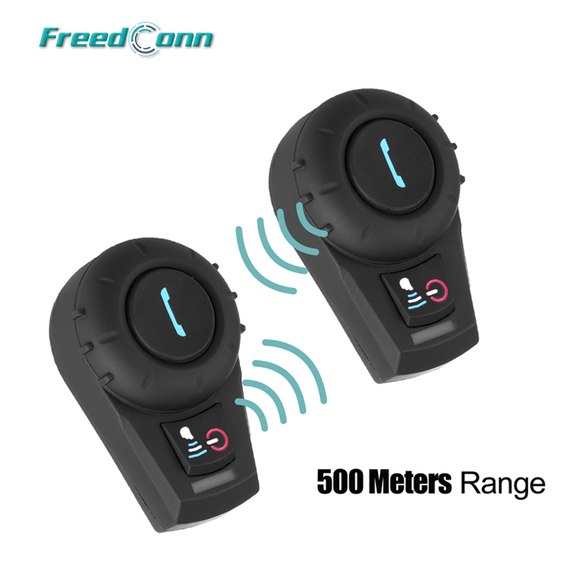 2 PCS FreedConn VB BT Bluetooth Interphone Motorbike Motorcycle Helmet Intercom Headset 500M Free Shipping!! carchet 2x bt bluetooth motorcycle helmet inter phone intercom headset 1200m 6 rider motorbike headset handsfree call