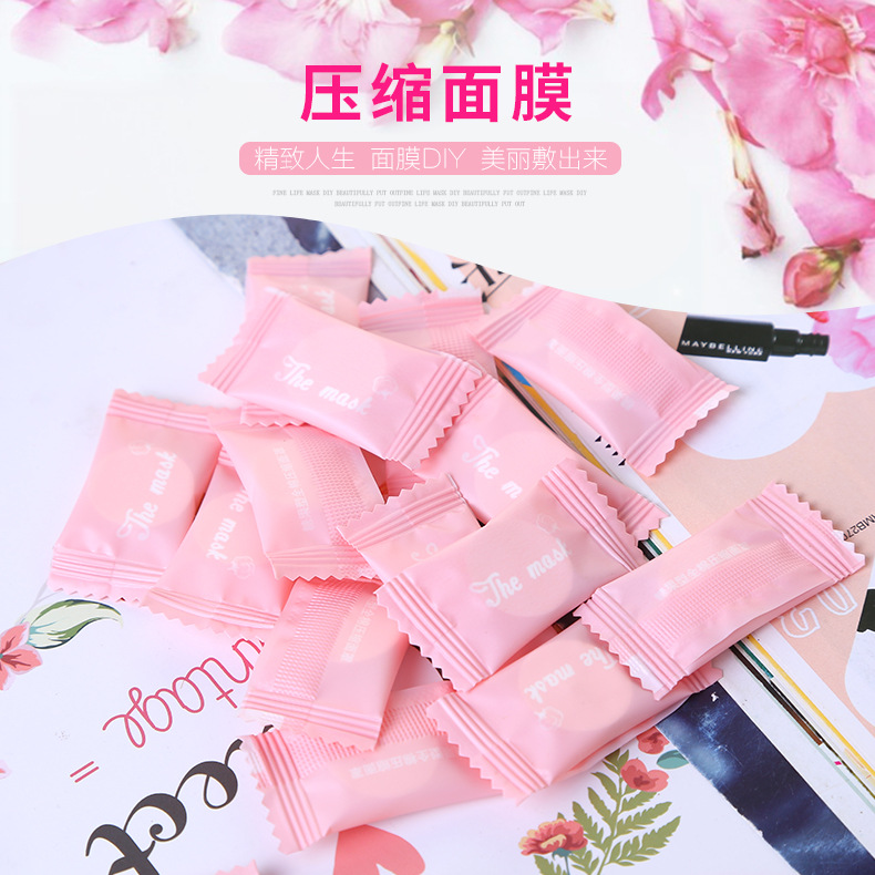 Compressed Facial Face Women Beauty DIY Disposable Paper non woven Natural 5pcs Random Color in Treatments Masks from Beauty Health