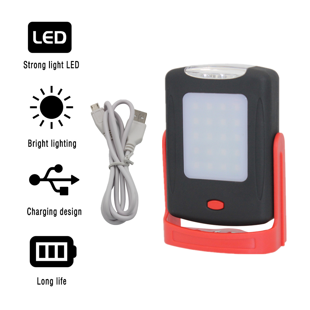 Portable LED Flashlight Magnetic Work Light Rechargeable 360 Degree Stand Hanging Torch Lamp For Night Camping Work 4 in 1 led flashlight magnetic work light rechargeable stand hanging swivel hook rotation power bank torch lamp mfbs