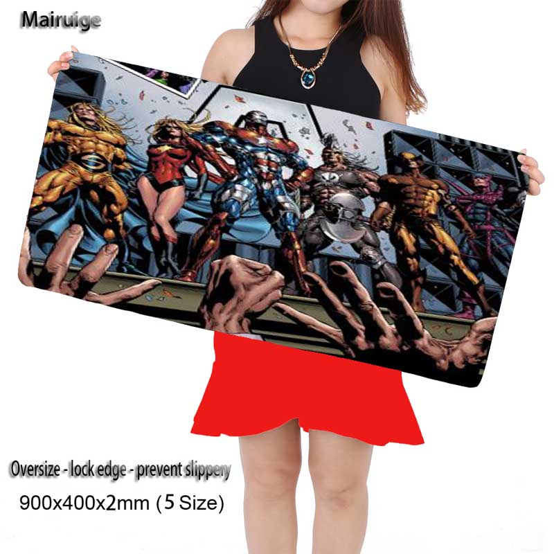 Mairuige Original Design Computer Speed Mouse Pads Heroes Movie Gaming Mouse Pad Rubber Gamer Soft Comfort Mouse Mat