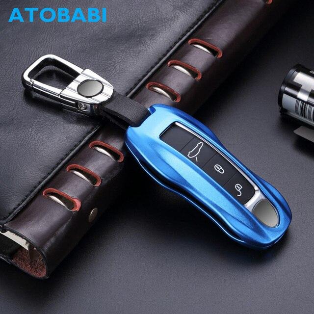 225a18bdbd2b US $31.9  ATOBABI Luxury Aluminum Alloy Smart Key Fob Protector Remote Skin  Cover Case Keyless Jacket for Porsche Cayenne 911 Car Keychain-in Key Case  ...