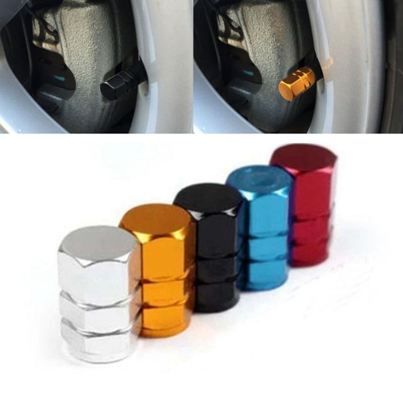 Theftproof Aluminum Car Wheel Tires Valves Tyre Stem Air Caps Airtight Cover