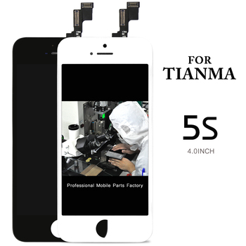 great quality 10 PCS/LOT for Tianma W/B for iPhone 5S LCD premium Display screen Digitizer Assembly  Replacement +Camera Holder