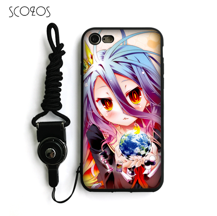 SCOZOS No Game No Life survival game Anime TPU Phone Cover For IPhone X 5 5S Se 6 6S 7 8 6 Plus 6S Plus 7 Plus 8 Plus #ka168