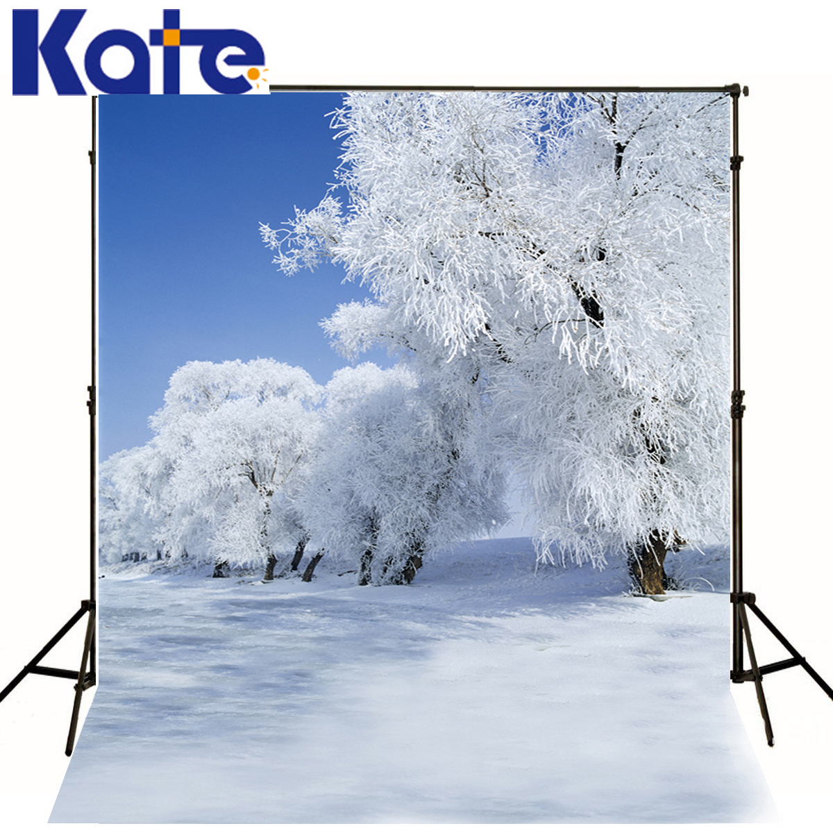 Kate Backgrounds Fotografia Snowstorm White Snow In Tree Backdrops Photography Scenery Blue Sky Backdrops For Photo Studio snowstorm pro