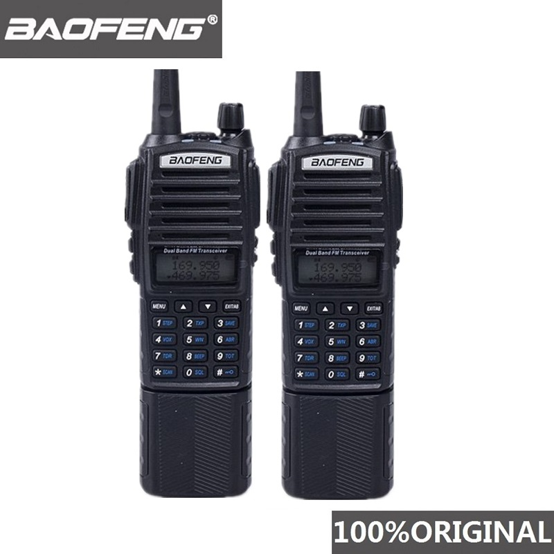 2pcs Baofeng UV-82 Walkie Talkie 5W 3800mAh Battery Dual Long Band Radio Dual PTT UV82 Woki Toki Baofeng UV 82 Radio Comunicador